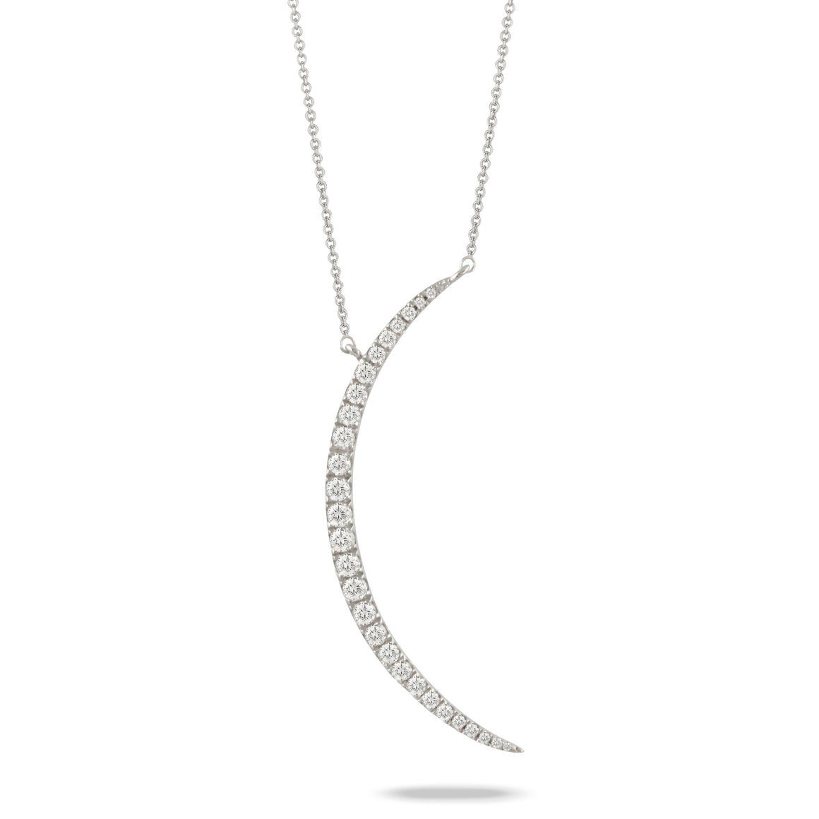 Diamond Crescent Moon Necklace by Doves - Talisman Collection Fine Jewelers
