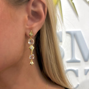 Long Pear Morganite Earrings by Meredith Young - Talisman Collection Fine Jewelers