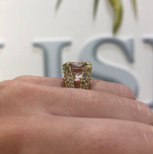Morganite Ombre Pink Diamond Ring by Meredith Young - Talisman Collection Fine Jewelers
