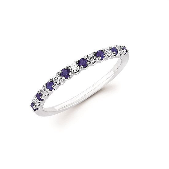 Sapphire and Diamond Stack Band - Talisman Collection Fine Jewelers