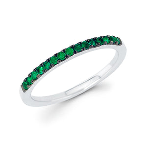 Emerald May Birthstone Stack Band - Talisman Collection Fine Jewelers