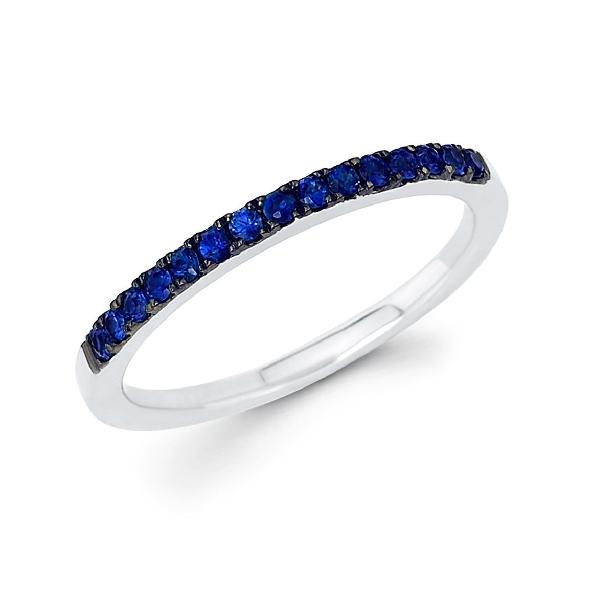 Blue Sapphire September Birthstone Stack Band - Talisman Collection Fine Jewelers