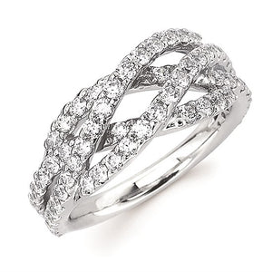 Twisted Diamond Ring - White Gold - Talisman Collection Fine Jewelers
