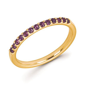 Amethyst Stackable February Birthstone Band - Talisman Collection Fine Jewelers
