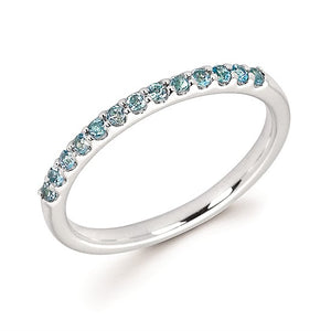 Blue Topaz December Birthstone Stack Band Ring - Talisman Collection Fine Jewelers