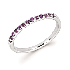 Alexandrite Stackable June Birthstone Band - Talisman Collection Fine Jewelers