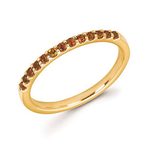 Citrine Topaz November Birthstone Stack Band - Talisman Collection Fine Jewelers
