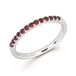Garnet Stackable January Birthstone Band - Talisman Collection Fine Jewelers