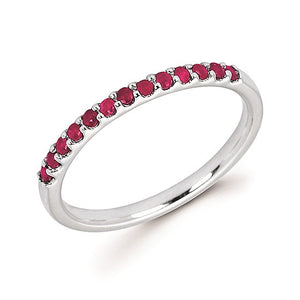 Ruby Stackable July Birthstone Band - Talisman Collection Fine Jewelers