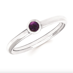Amethyst Bezel Set February Birthstone Ring - Talisman Collection Fine Jewelers