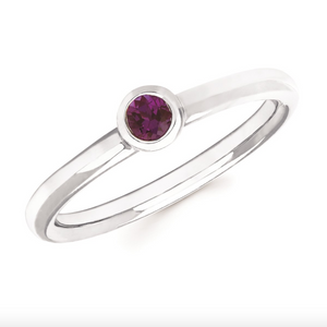 Alexandrite Bezel Set June Birthstone Ring - Talisman Collection Fine Jewelers