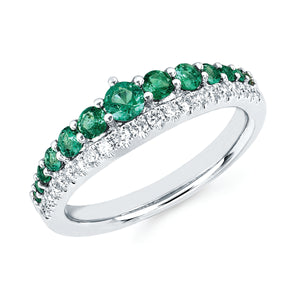 talisman collection fine jewelers 14k gold emerald and diamond ring