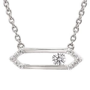 Sterling Silver Sliding Diamond Necklace - Talisman Collection Fine Jewelers