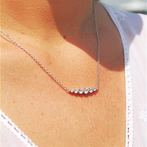 Diamond Smile Necklace, 0.50 Carat Total Weight in White, Yellow or Rose Gold - Talisman Collection Fine Jewelers