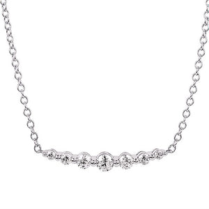 14k Gold 1/2 Carat Diamond Smile Necklace - Talisman Collection Fine Jewelers