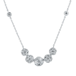 Diamond 5-Station Necklace - White Gold - Talisman Collection Fine Jewelers