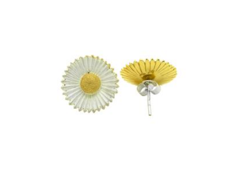 Small Daisy Studs by Andrew O'Dell - Talisman Collection Fine Jewelers