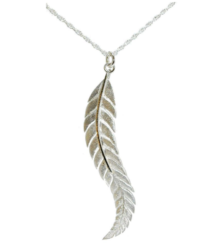 Sterling Silver Fern Necklace by Andrew O'Dell - Talisman Collection Fine Jewelers