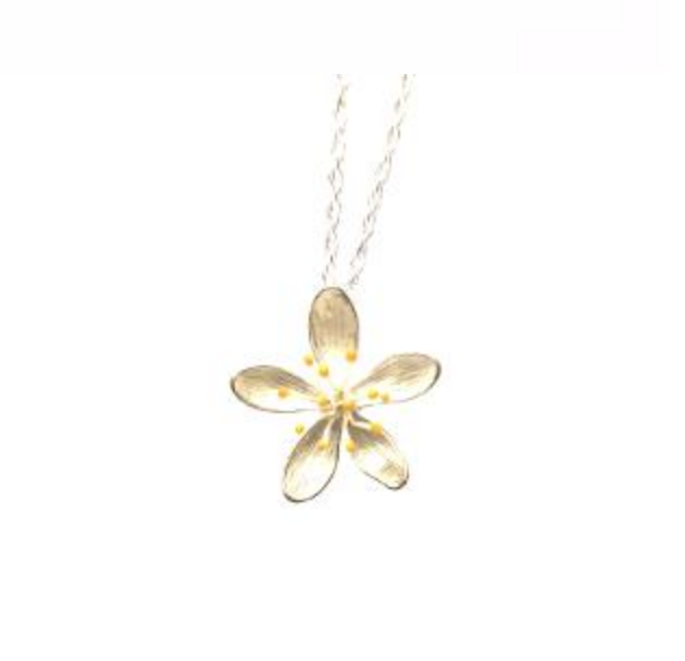Sterling Silver Hypericum Necklace by Andrew O'Dell - Talisman Collection Fine Jewelers