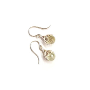 Andrew O'Dell Green Quartz Leucojum Earrings - Talisman Collection Fine Jewelers
