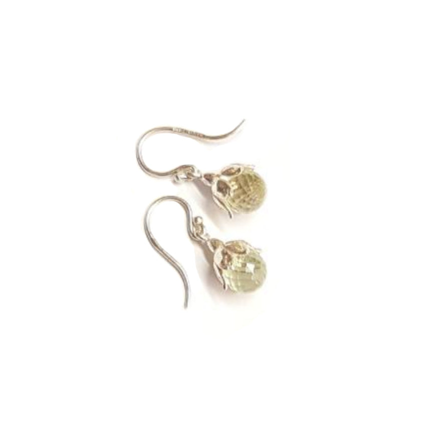 Green Quartz Leucojum Earrings by Andrew O'Dell - Talisman Collection Fine Jewelers
