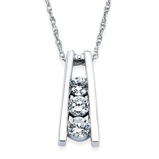 Diamond Ladder Necklace in White, Yellow or Rose Gold - Talisman Collection Fine Jewelers