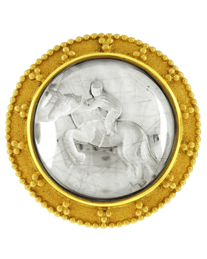 Equestrian Intaglio Pendant by Paula Crevoshay - Talisman Collection Fine Jewelers
