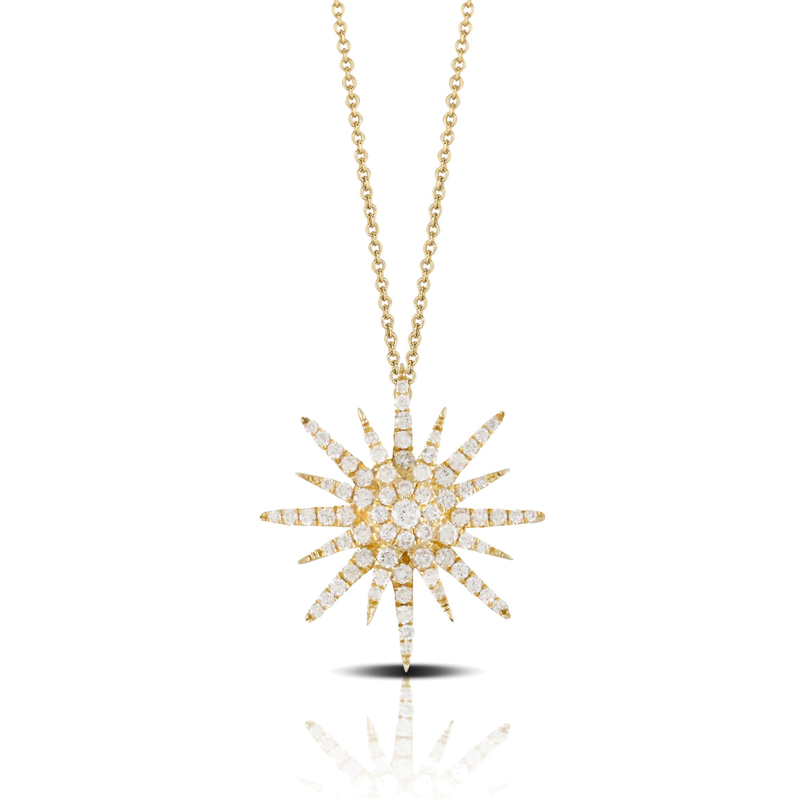 Diamond Sunburst Necklace by Doves - Talisman Collection Fine Jewelers