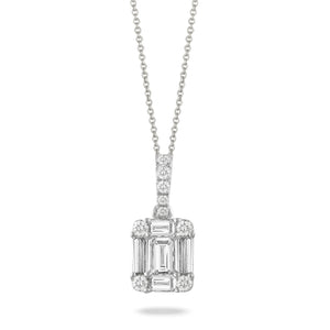 Mondrian Invisible Set Diamond Necklace by Doves - Talisman Collection Fine Jewelers
