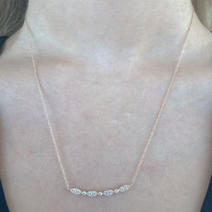 Diamond Florence Necklace in 14k Rose Gold