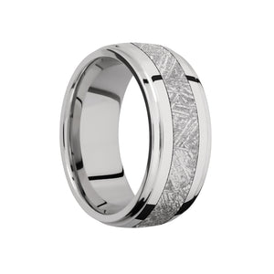 Platinum and Meteorite Inlay Men's Band - Talisman Collection Fine Jewelers