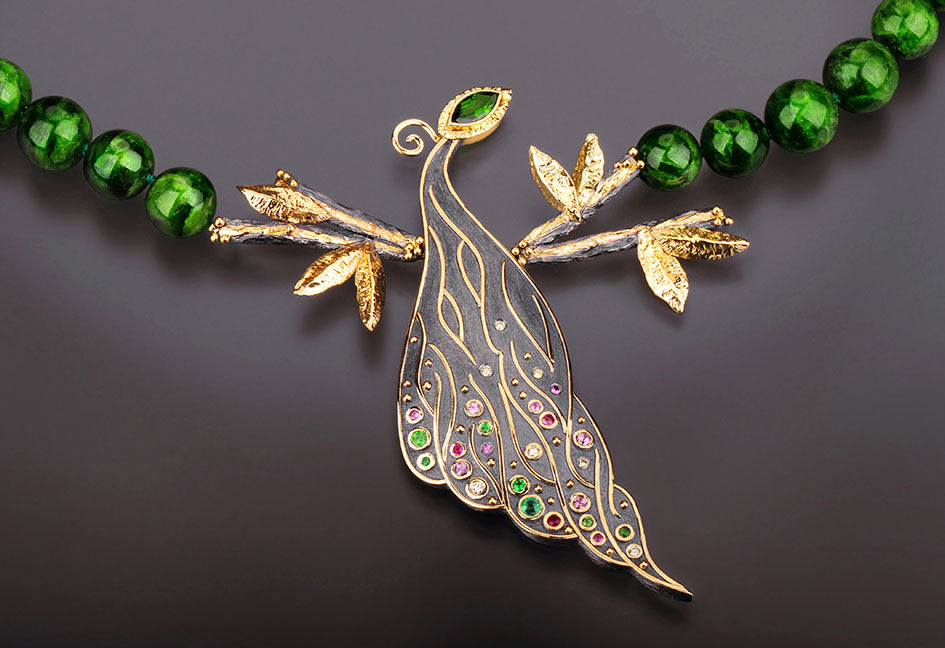 Peacock Necklace by Margisa - Talisman Collection Fine Jewelers