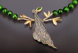 """Peacock"" Necklace by Margisa - Talisman Collection Fine Jewelers"