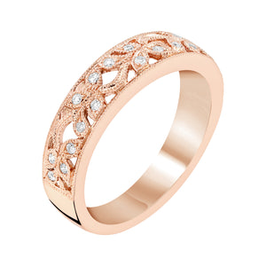 Diamond Stacking Band in White, Yellow or Rose Gold - Talisman Collection Fine Jewelers