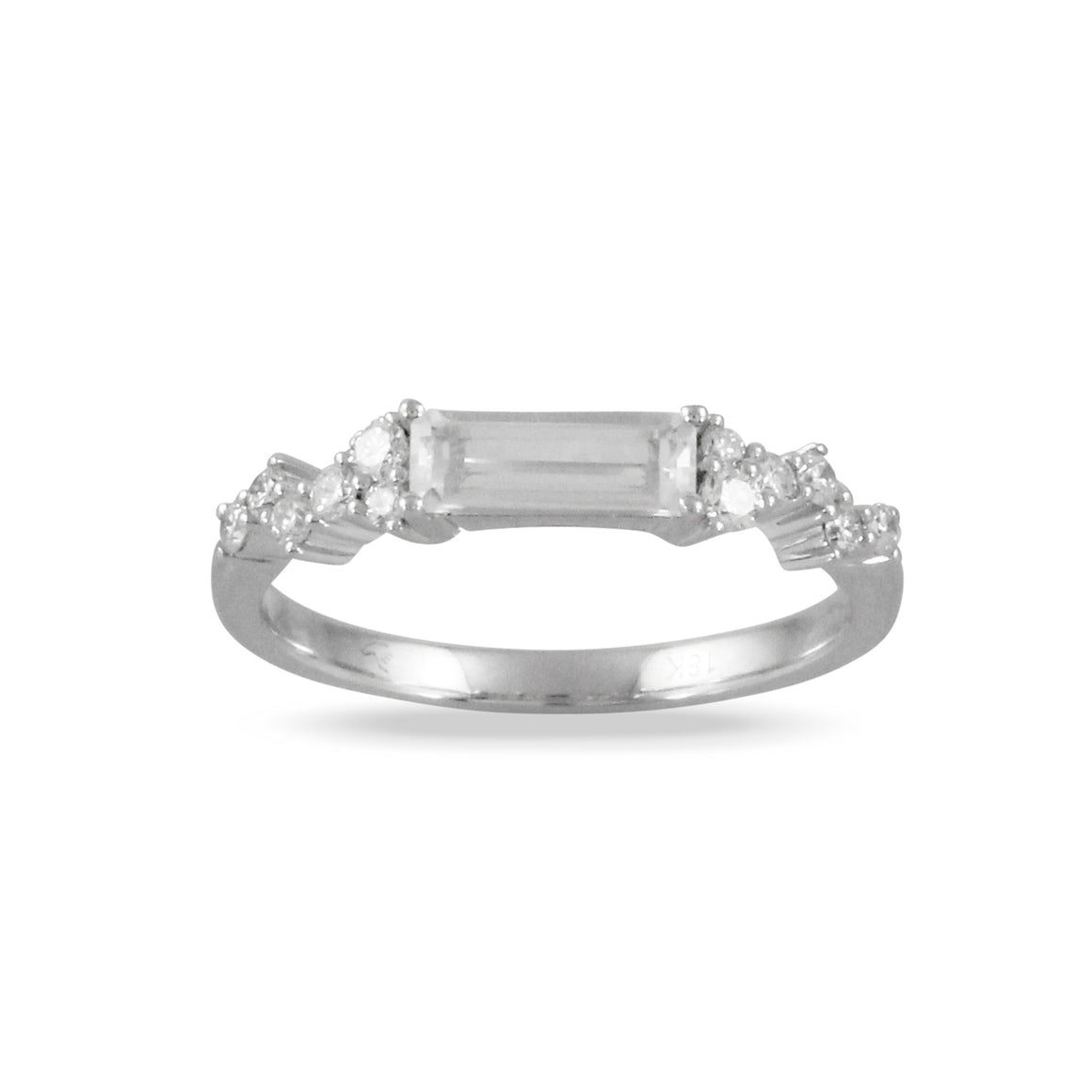 White Topaz and Diamond Ring by Doves - Talisman Collection Fine Jewelers