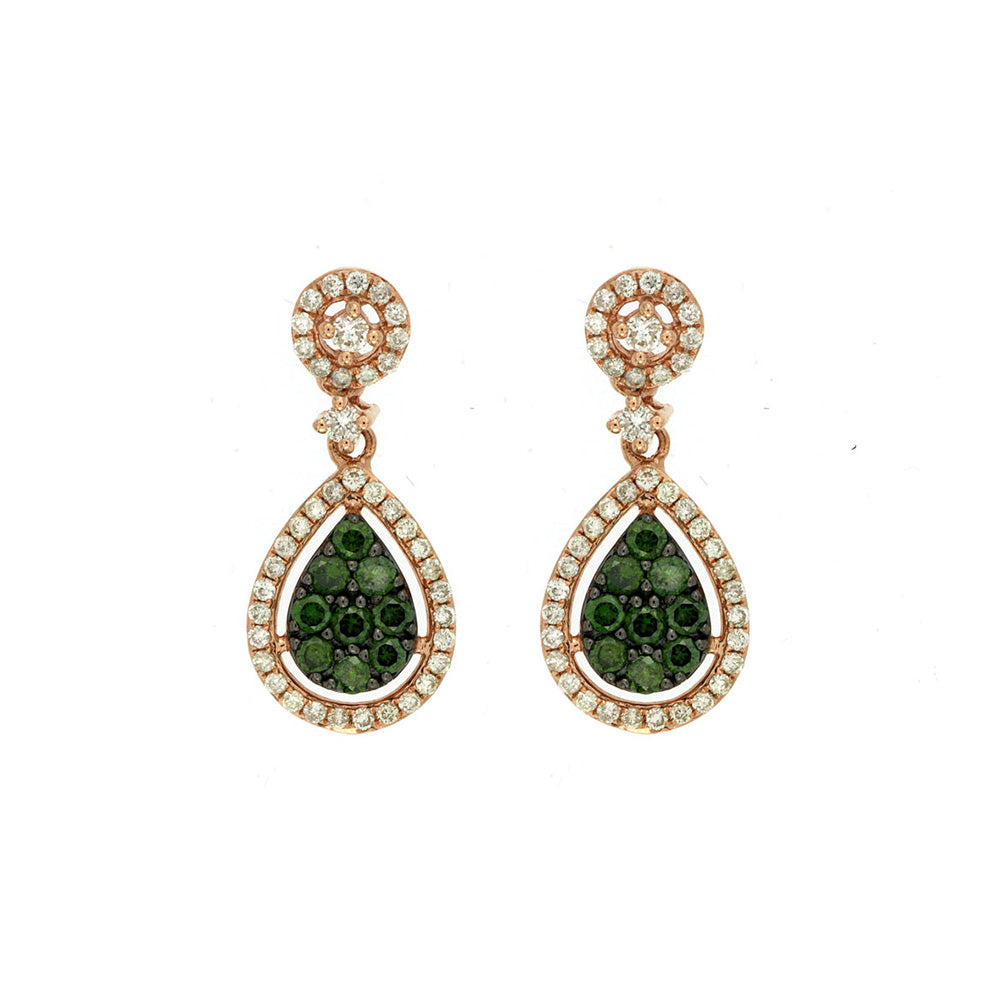 Green and White Diamond Tuscany Earrings