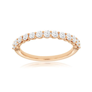 Diamond Anniversary Stack Band, 0.65 Carat Total Weight in 14k Rose Gold