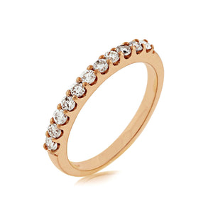 Diamond Anniversary Stack Band, 0.40 Carat Total Weight in 14k Rose Gold