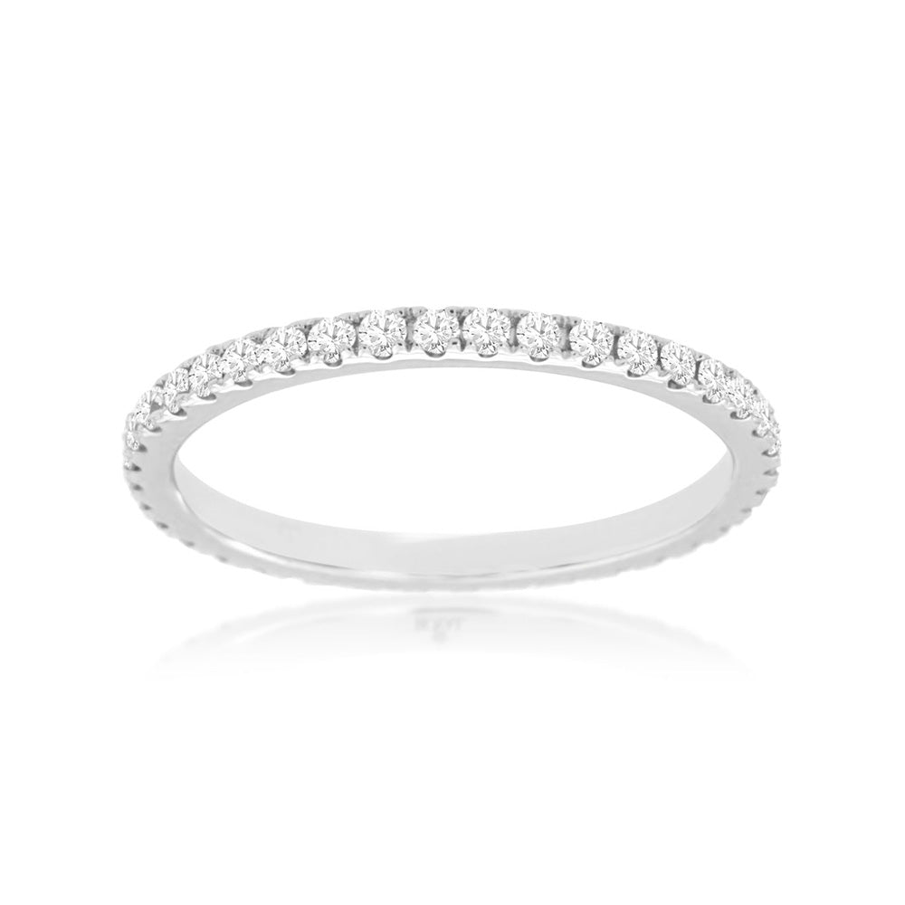 Diamond Eternity Stack Band, 0.50 Carat Total Weight
