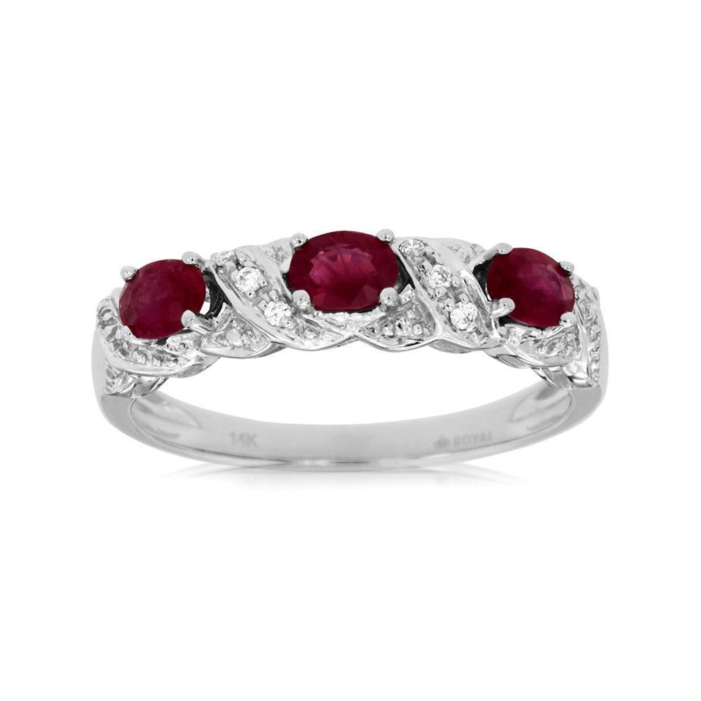 Ruby and Diamond Sienna Band