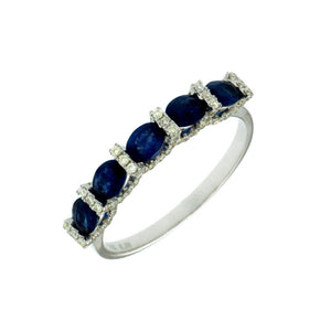 Sapphire and Diamond Grace Band