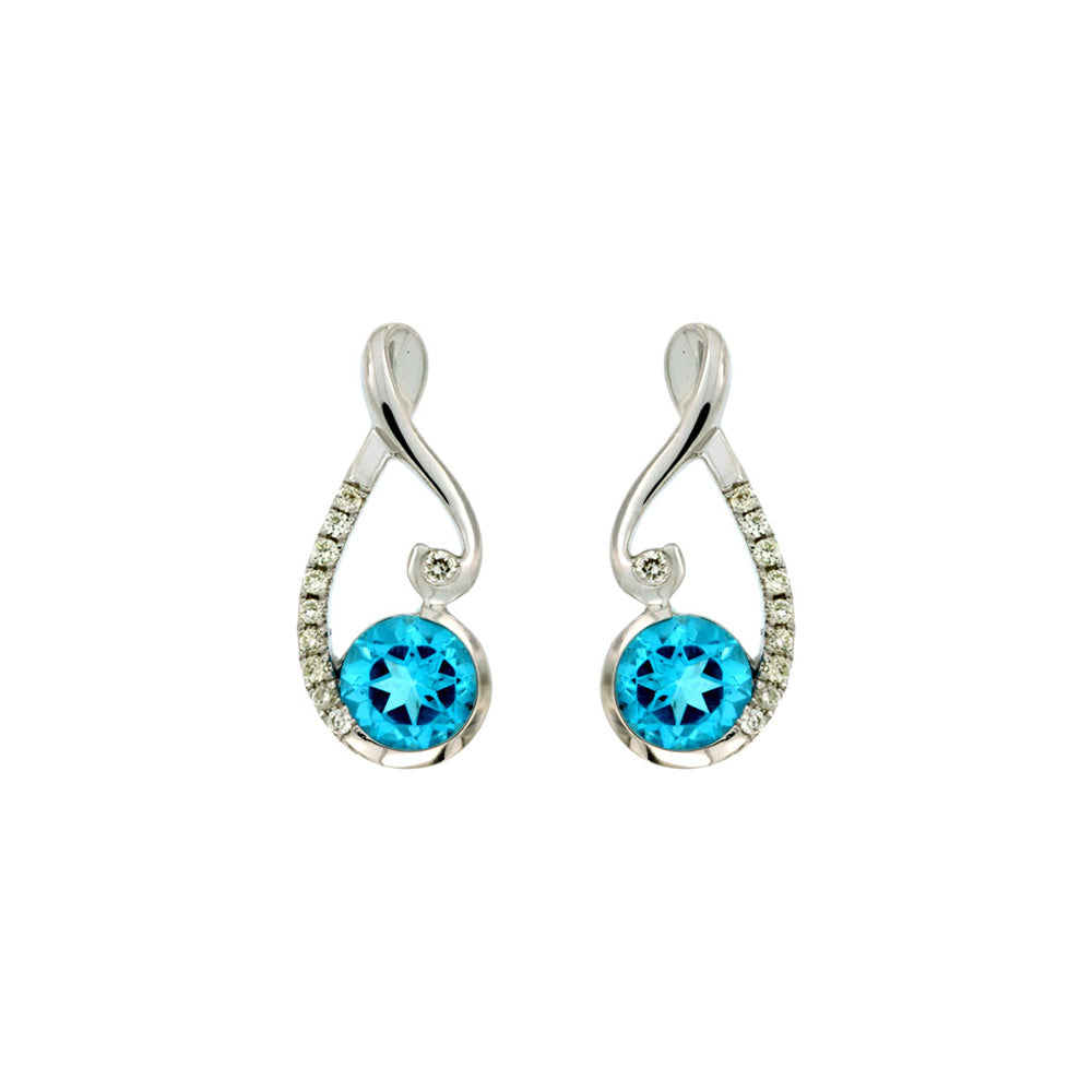 Blue Topaz and Diamond Skye Earrings