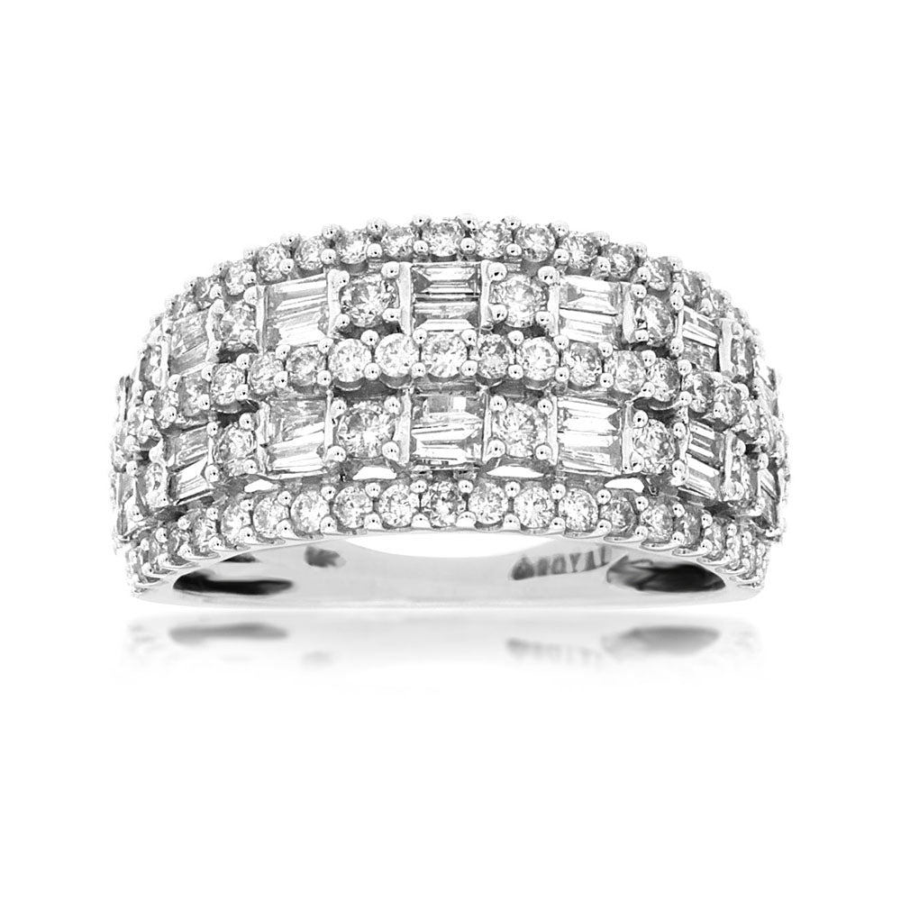 Diamond Versailles Five-Row Band, 1.25 Carat Total Weight