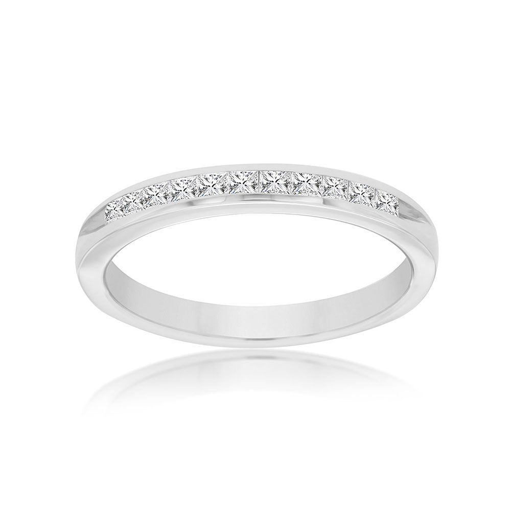 Princess-Cut Diamond Astra Stack Band in 14k White Gold