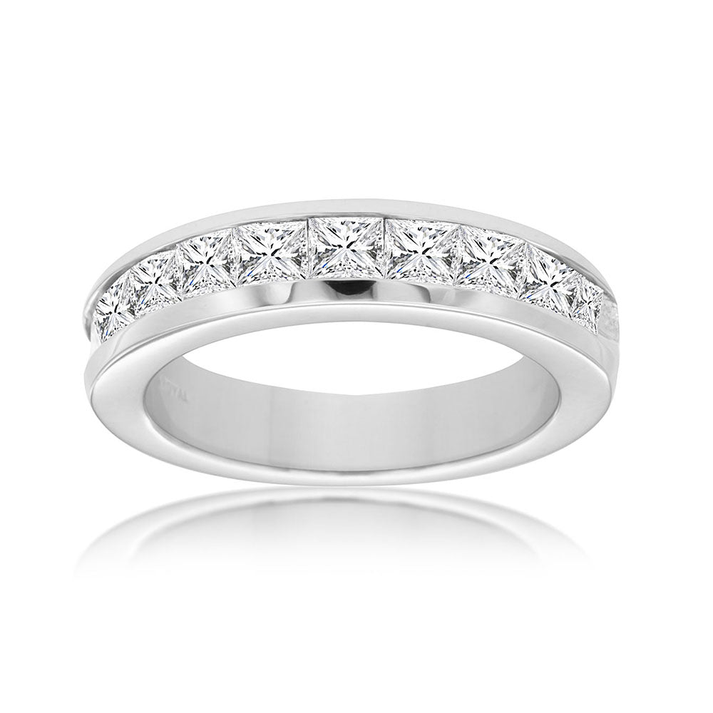 Princess-Cut Diamond Starlight Band, 1.50 Carat Total Weight