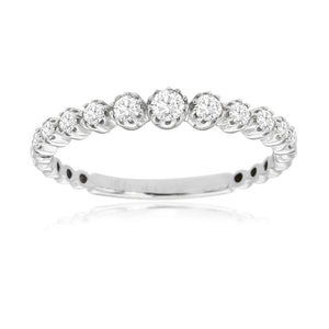 Diamond Eclipse Stack Band in 14k White Gold