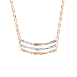 talisman collection fine jewelers 14k gold diamond bar necklace