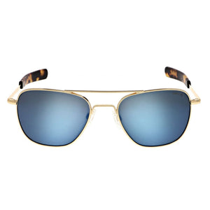 Authentic Aviators, 23k Gold Frames with Cobalt Lenses by Randolph - Talisman Collection Fine Jewelers