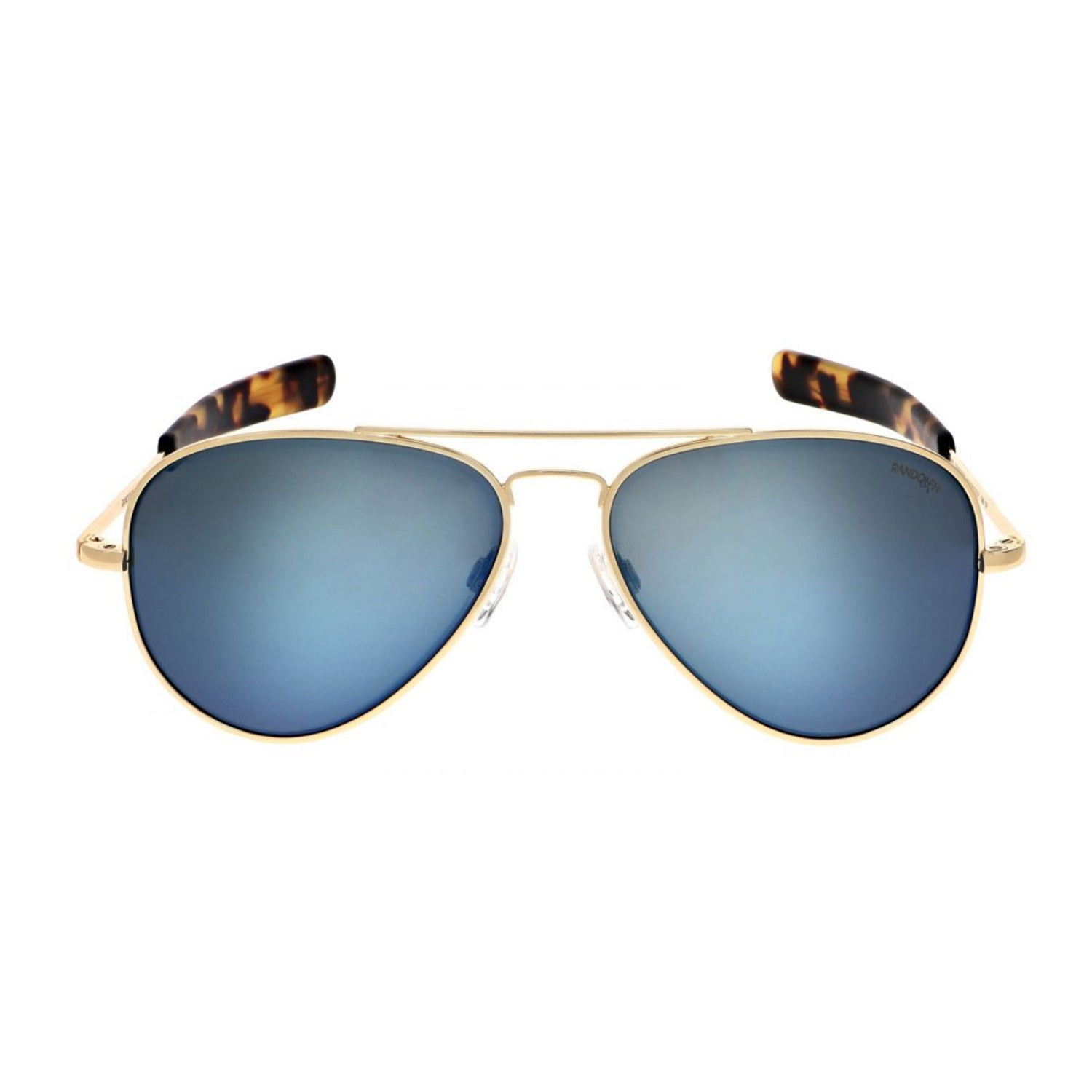 Concorde Aviators, 23k Gold Frames with Cobalt Lenses by Randolph - Talisman Collection Fine Jewelers