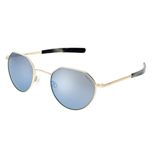 Hamilton Sunglasses, 22k Champagne Gold Frames with Mystic Blue Lenses by Randolph - Talisman Collection Fine Jewelers